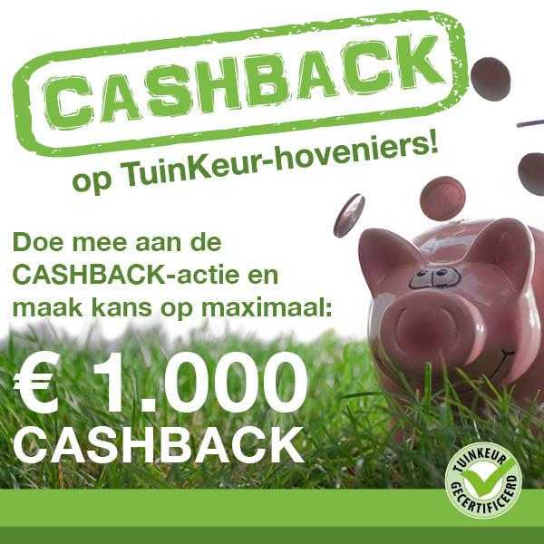 Cashback actie tuinkeur Vier Seizoenen